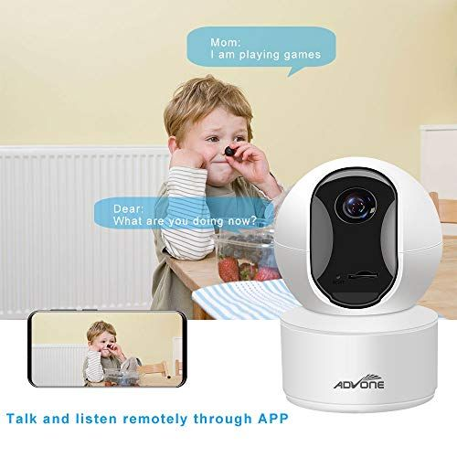 Indoor Security Camera 4mp 2560p Wireless Pet Camera Advone Wifi Camera Baby Monitor Ip Camera With Cloud Stora Baby Camera Monitor Pet Camera Remote Viewing