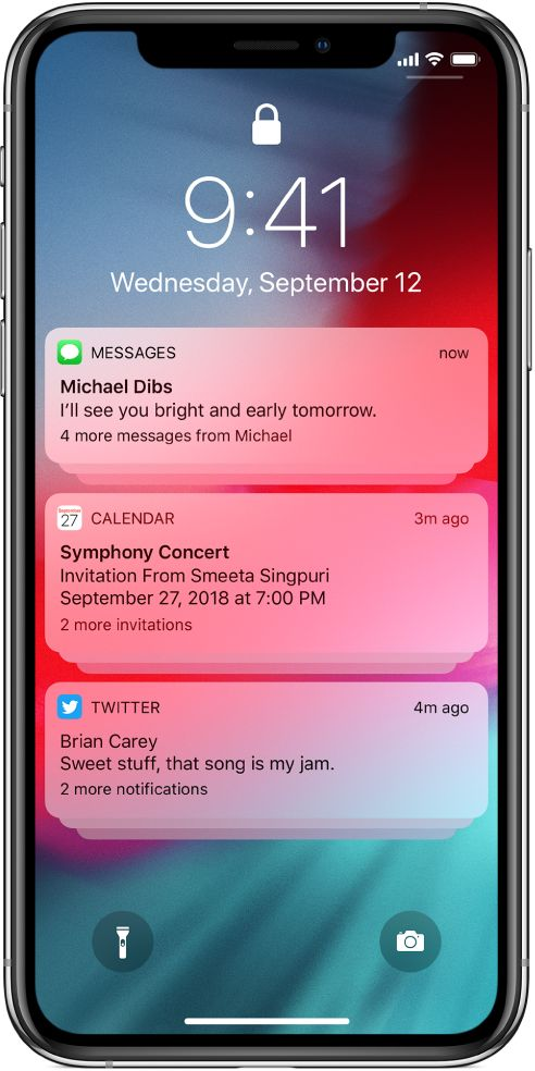 View And Respond To Notifications On Iphone Iphone Tutorial Iphone App Design Iphone