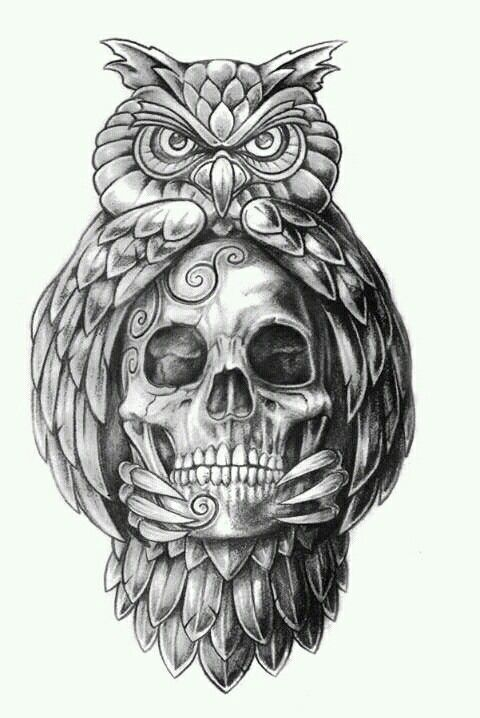Resultado De Imagen Para Dibujos Para Tatuajes Buhos Para Tatuar Craneos Y Calaveras Calaveras