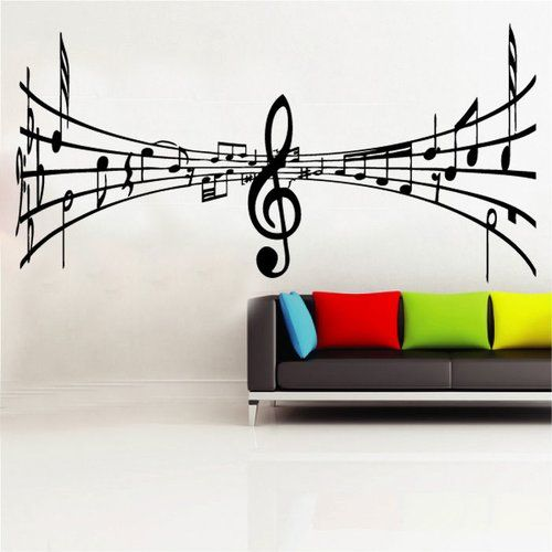 Music notes wall art decal sticker modern any colour or size