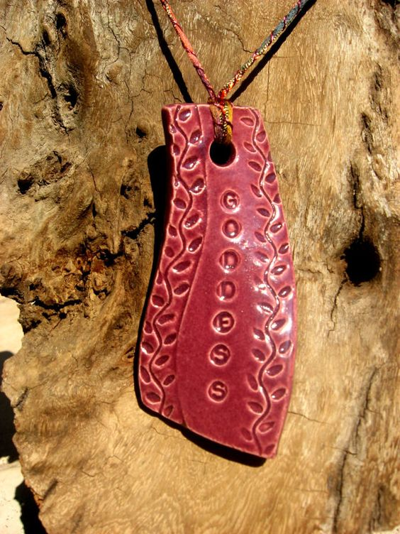 Goddess Ornament Handmade Ceramic Purple by Ensorceled on Etsy, $8.00