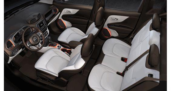 2015 Jeep Renegade Bark Brown Ski Gray Interior