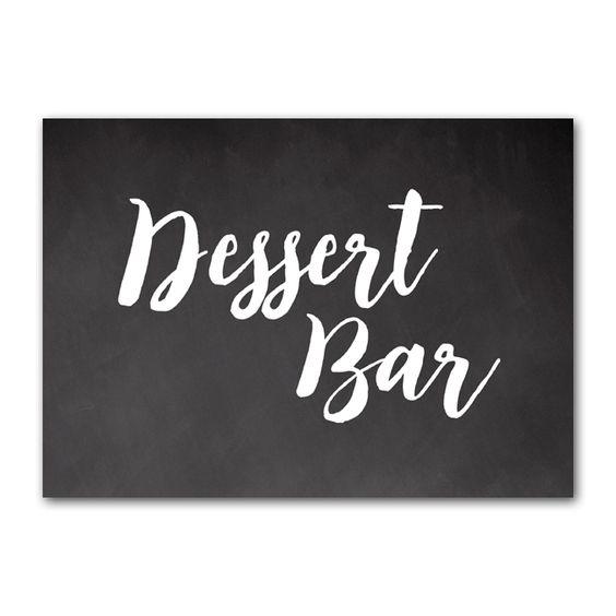 Wedding Sign Rustic Chalkboard - Dessert Bar - Instant Download Printable - Style 7 - 5x7