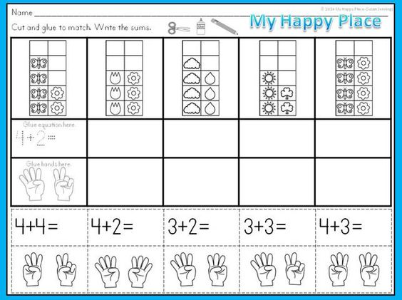 Spring Math – Ten Frame Worksheets Kindergarten