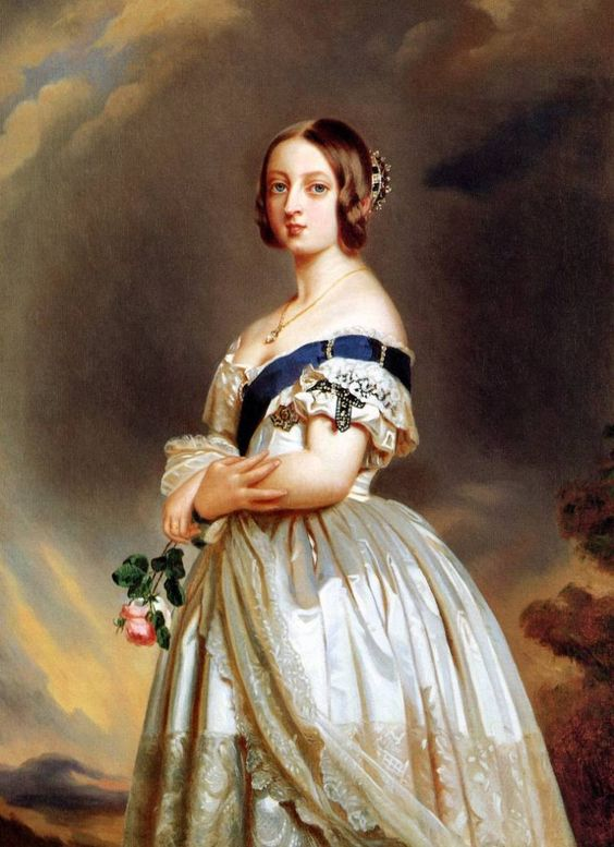 The young queen victoria franz xaver winterhalter for Plante 9 chemises