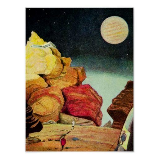 Vintage Science Fiction Quarry Planet Travelers #vintage #scifi #space #exploration