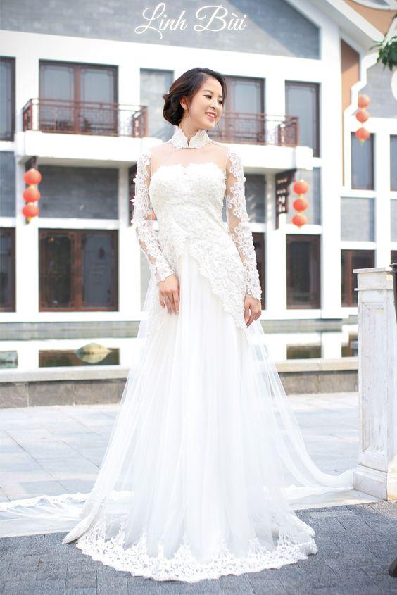Màu áo dài cưới hot nhất hiện nay cho các cô dâu chọn lựa