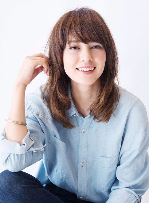 梨花風マッシュウルフレイヤー 髪型ミディアム 日本のヘアカット