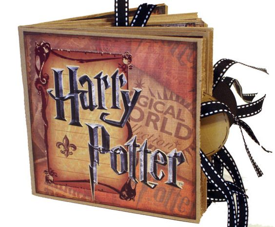 Harry Potter Paper Bag Scrapbook   Photo Album by apicketfencelife