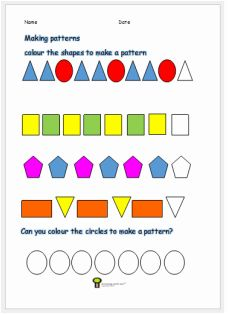 math worksheet : pattern activity worksheet ks1 math worksheet for kids free  : Free Maths Worksheets Ks1