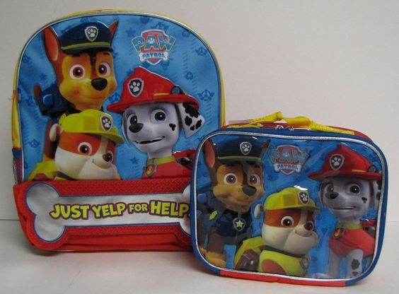 paw patrol backpack lunch kits and paw patrol on pinterest. Black Bedroom Furniture Sets. Home Design Ideas