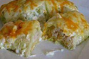 Foto de la receta de repollo relleno de arroz y cebolla