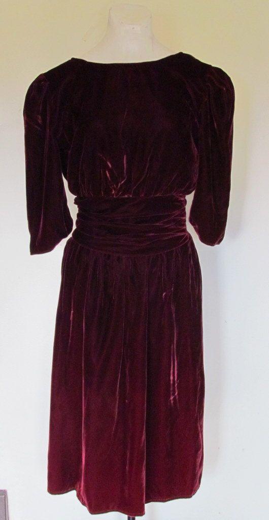 Garnet velvet Christmas dress