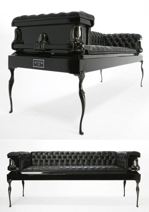 A Sofa Made From A Coffin The Creepiest Thing In This