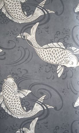 1000 ideas about grey wallpaper on pinterest textured for Koi fish bathroom decorations