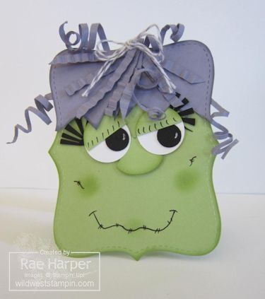 Stampin' Up! Top Note Mrs Frankenstein  by Rae Harper at Wild West Paper Arts