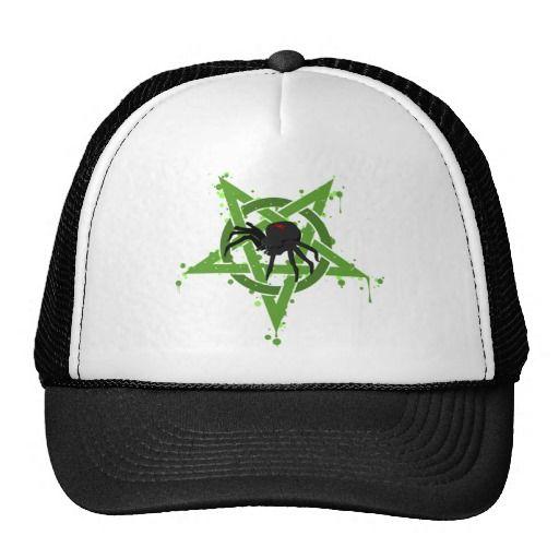 pentagram Spider Cap Trucker Pet by Nicky`s Addiction
