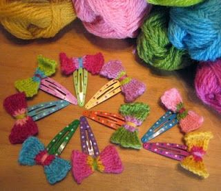 Knitted Cozy Barrettes