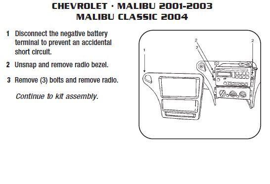 2001 Malibu Radio Wiring Diagram Radio Malibu How To Remove