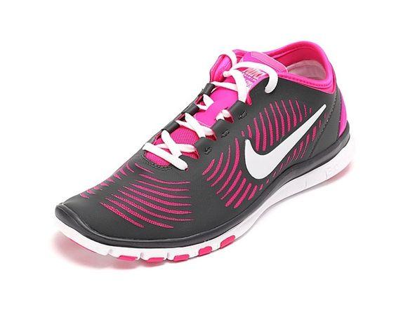 Nike Free Rojo De Rosa Balanza Blanco Mujer Gris Oscuro Zapatillas Para Training,