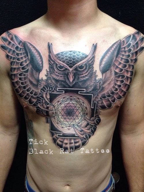 Pinterest the world s catalog of ideas for Black and grey chest tattoos