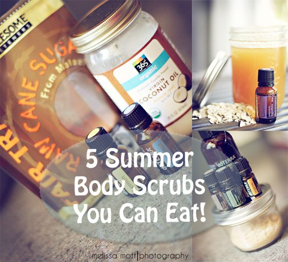 Who doesn't need a little more pampering time during summer and sandals season?!  These 5 Homemade Body Scrubs are safe, nontoxic, and easy on the pocket book.  http://healthymomskitchen.com #diyspa #bodyscrubs