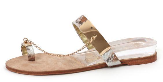 RosaRot Beach Sandale mit Glamourfaktor