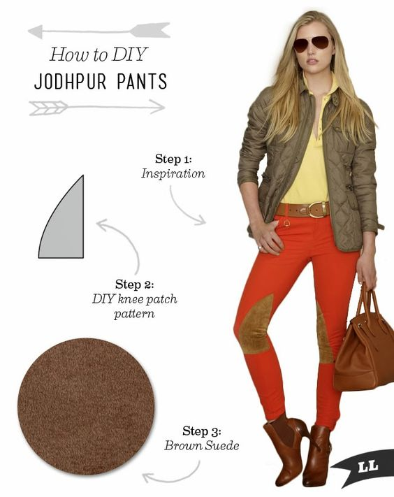 How to DIY Jodhpur Pants