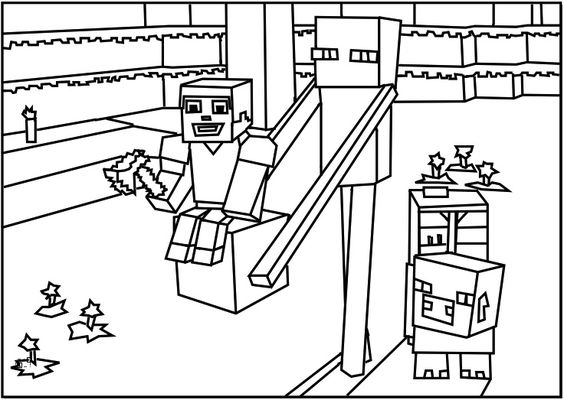 Printable Roblox Minecraft Enderman Coloring Page For Coloring Pages Roblox