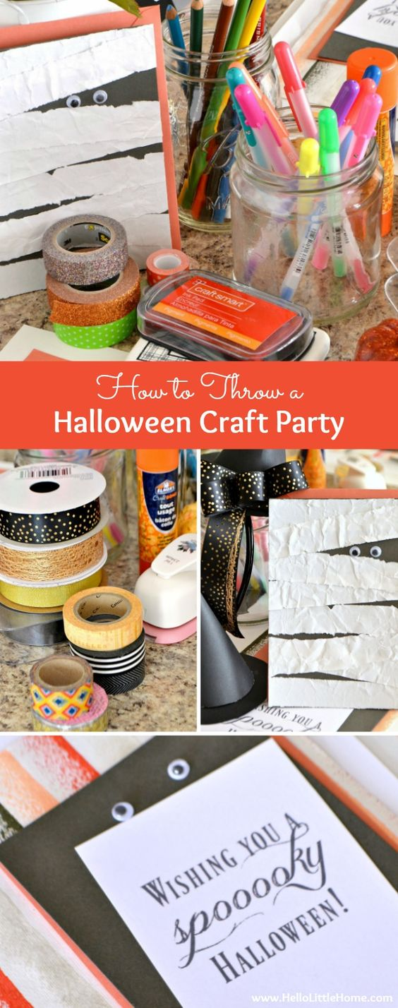 How to Throw a Halloween Craft Party! Call your friends, I'm ...