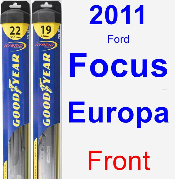 Front Wiper Blade Pack for 2011 Ford Focus Europa - Hybrid