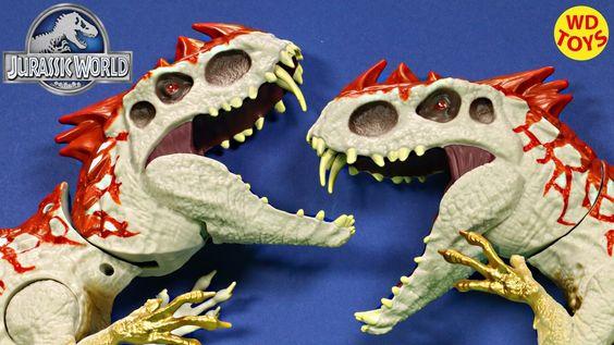 New Jurassic World Hybrid Rampage INDOMINUS REX Vs Hybrid Rampage INDOMI...
