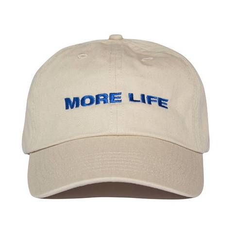 More Life Hat Beige Aubrey Drake Graham Latest Album No Structure Women And Men Dad Hat Quality Embroidery Baseball Cap Dad Hats Baseball Caps Fashion Life Cap
