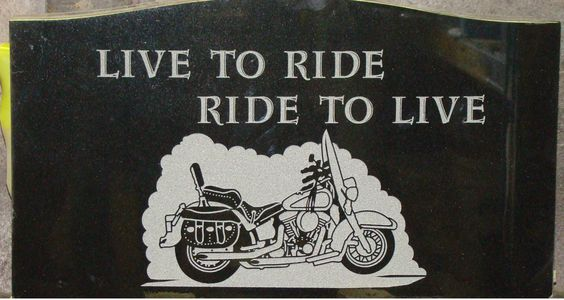 Live to Ride, Ride to Live, back of Monument