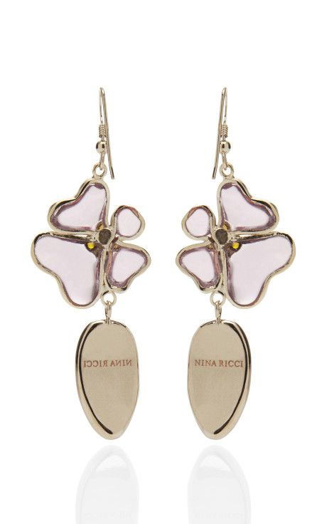 Glass Earring by Nina Ricci Now Available on Moda Operandi...the back