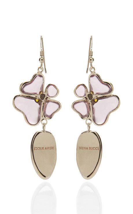 Glass Earring by Nina Ricci Now Available on Moda Operandi...the back
