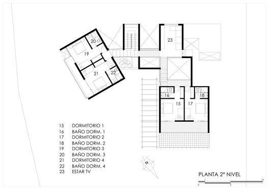 Gallery Of Mec House Francisco Dulanto Carbajal 31 Ground Floor Plan Facade House Brick And Stone