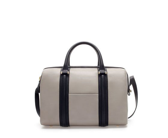 ZARA - WOMAN - STRUCTURED BOWLING BAG WITH POCKET