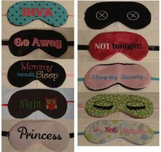 Made these Eye Mask Embroidery Machine Designs in the Hoop $12.99