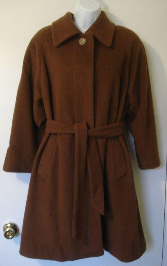 Regency Pure Cashmere Vtg Long Belted Coat Size 6 Brown Saks Fifth Avenue Saksfifthavenue Basiccoat Mantel Mit Gurtel Mantel Frauen Mantel
