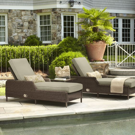 Vineyard Collection - Chaise Lounges Brown Jordan collection for Home Depot. High-quality outdoor furniture.   Santa Fe House - Historic Ambrosio ... : brown jordan chaise - Sectionals, Sofas & Couches