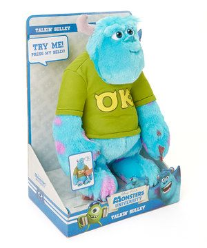 Monster University Talking Sulley Plush Toy by Monsters University #zulily #zulilyfinds