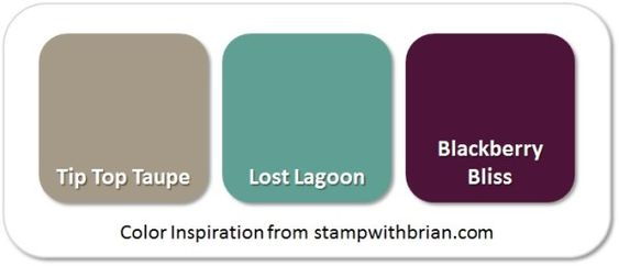 Stampin' Up! Color Inspiration: Tip Top Taupe, Lost Lagoon, Blackberry Bliss: