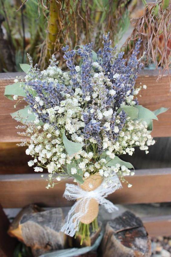Lavender Bouquet Wedding Babies Breath Bouquet With Etsy Lavender Bridal Bouquet Lavender Bouquet Purple Bridal Bouquet