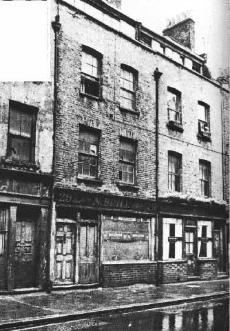 Hanbury street, London, the street on which prostitute Annie Chapman was murdered by jack the ripper:
