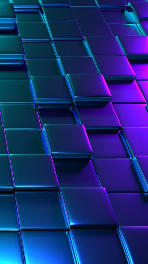 3d Block Patterns Wallpaper For Smartphone Screen Phone
