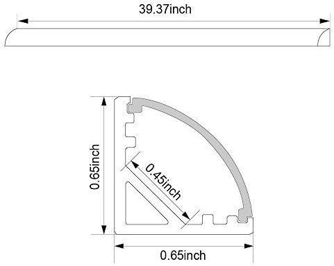 5 Pack Of 1m 3 3ft V Shape Aluminum Channel For Corner Mount Led Strip Installation Right Angle Aluminum Prof Led Strip Led Strip Lighting Mounting Led Strips