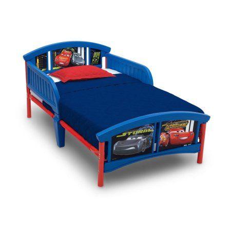 Disney Pixar Cars Plastic Toddler Bed By Delta Children Blue