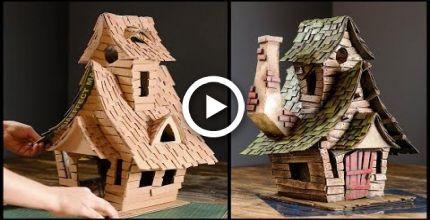 Diy Witch House Using Cardboard Diy Witch Diy Fairy House Diy