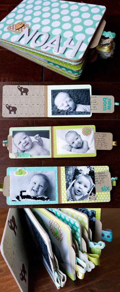 El primer año de tu bebe. Me encanta esta crafty idea!! Album DIY #diy #manualidades #album #niños #bebe